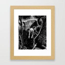 WEIRD HORROR Framed Art Print