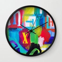 Alphabet City 2 Wall Clock