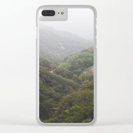 Mist in the San Bernardino Mountains Clear iPhone Case