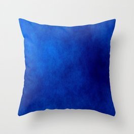 Misty Deep Blue Throw Pillow