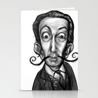 dali Stationery Cards featuring Dali by Rubiao Ferraz Cozer