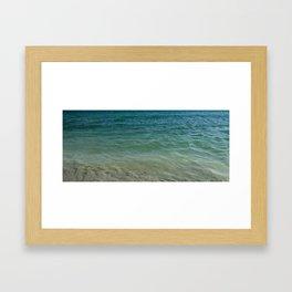 ocean at shore Framed Art Print