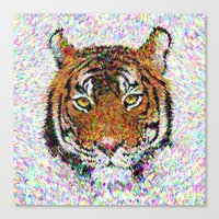 tiger Canvas Prints featuring Tiger by David Zydd