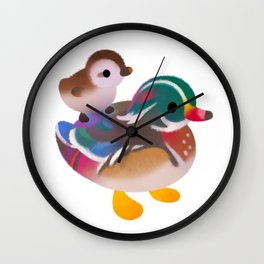 Duck and Duckling Wall Clock