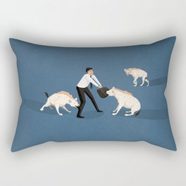 Mobbing at work Rectangular Pillow