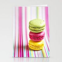 macarons Stationery Cards featuring MACARONS by Ylenia Pizzetti