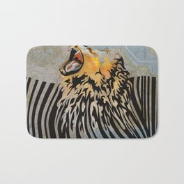 lion barcode Bath Mat