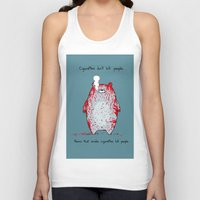 cigarettes Tank Tops featuring Cigarettes don't kill people. by Jason Vaughan