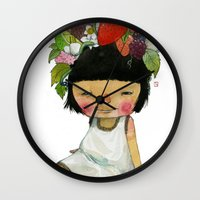 spring Wall Clocks featuring Spring  by Young Ju