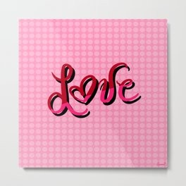 Polka Dot Love Metal Print