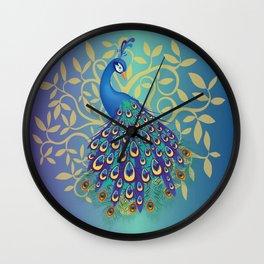 Peacock In A Tree Wall Clock