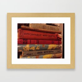 Dusty Books Framed Art Print