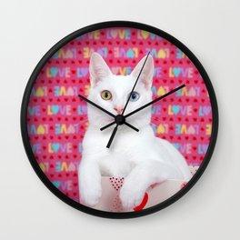 Love Kitten Valentine's Day Wall Clock