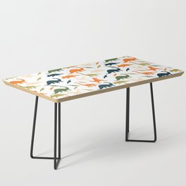 Dinos in Pastel Green and Orange Coffee Table
