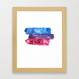 bisexual watercolor flag Framed Art Print