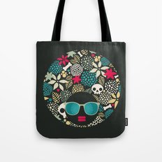 Black head. Tote Bag