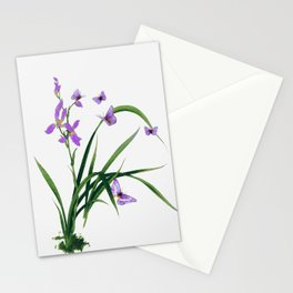 Butterflies and flowers Stationery Cards