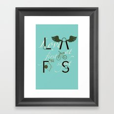 Love at First Sight and Bicycle Framed Art Print