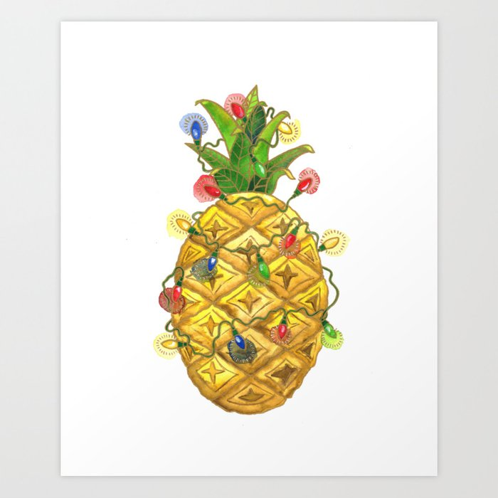 The Christmas Pineapple Art Print