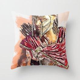 Spartan Hoplite Throw Pillow