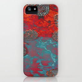 WATER FIRE AND BUTTERFLIES iPhone Case
