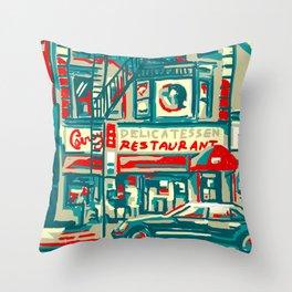 NYC Deli Throw Pillow
