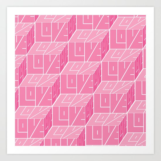 LOVE in three dimensions Art Print