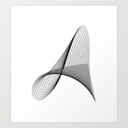 """""""Linear Collection"""" - Minimal Letter A Print Art Print"""