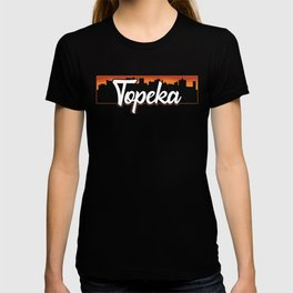 Vintage Topeka Kansas Sunset Skyline T-Shirt T-shirt