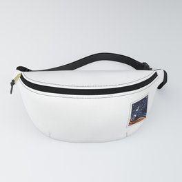 Postage Stamp Red-tailed black cockatoo Fanny Pack