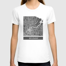 Brisbane Map orange T-shirt