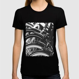 Bicycles, Bikes in Black and White Photography T-shirt