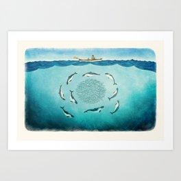 Porpoises Art Print