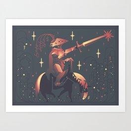 A Starry Knight Art Print