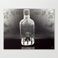 Stuck In a Hard Place | Bottle Canvas Print