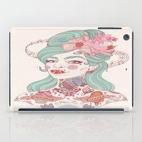 boobs iPad Cases featuring 2015 Bands for Boobs Design by Liz Clements by Bands for Boobs