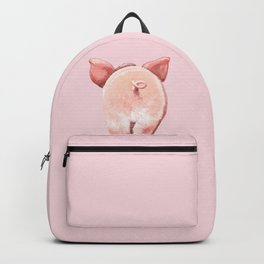 Pig Cutie Butt in Pink Backpack