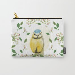 Blue Tit - Bird Watercolor Carry-All Pouch