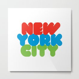 New York City Style Metal Print