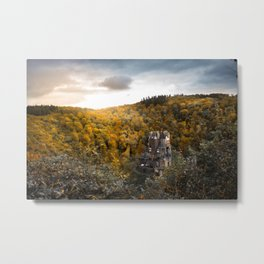Castle in the Woods 3 Metal Print