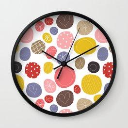 Happy - Fabric pattern Wall Clock