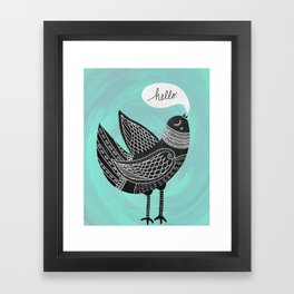 Hello Bird Framed Art Print