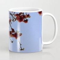fringe Mugs featuring Magnolia Fringe by polsia