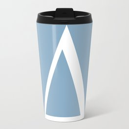 Delta letter sign on placid blue background Travel Mug