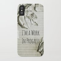 decal iPhone & iPod Cases featuring I'm A Work In Progress by Charlene McCoy