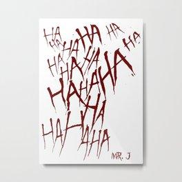 The Joker Laugh Red Metal Print