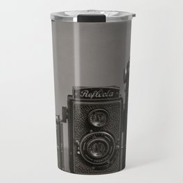 Vintage Cameras - Black Grey Travel Mug