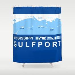 Gulfport Mississippi. Shower Curtain