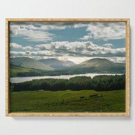 Lake in scottish Highlands Serving Tray