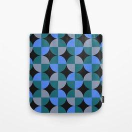 NeonBlu Squares Tote Bag